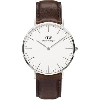 Montre Daniel Wellington DW00100023 - Montre Cuir Marron Homme